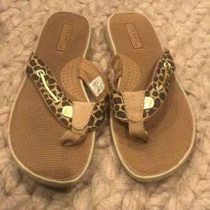 Sperry Leopard Flip Flops!